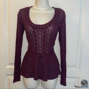 ELLE Knitted Top W/Gold Hight Light Size S